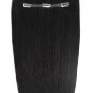 "Beauty Works 16"" Deluxe Remy Clip In Extensions Jet Set Black"