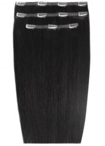 """Beauty Works 16"""" Deluxe Remy Clip In Extensions Jet Set Black"""